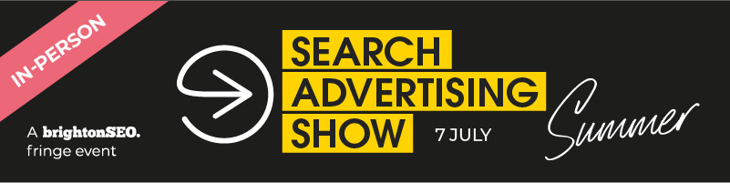 Search Advertising Show 2021 - 7 July - in-person